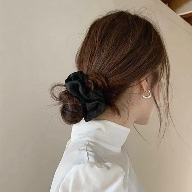 Korean Pony Holders Scrunchies-Black