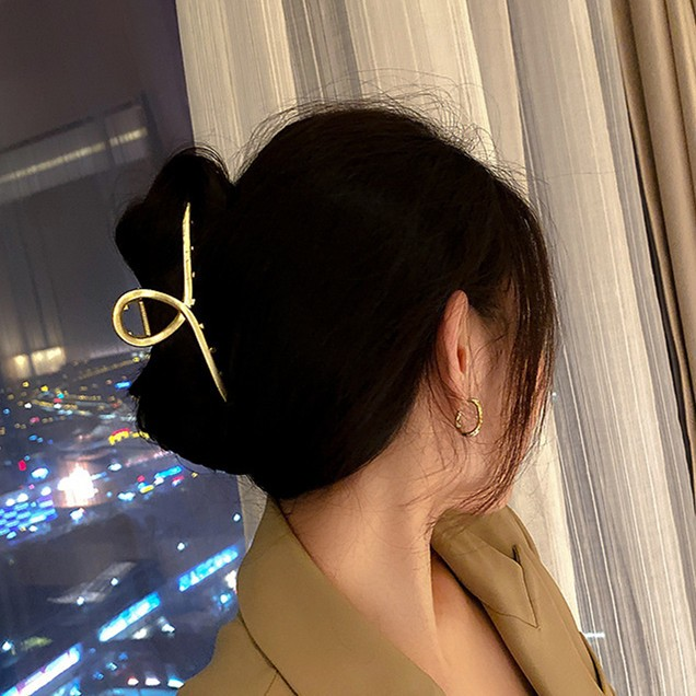 Glossy Metal Hair Clip